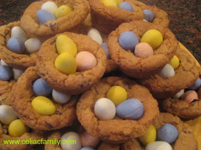 Chocolate Eggs in a Cookie Basket
