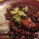 Pork Chops with Black Beans