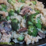 Quinoa with Broccoli & Mushrooms