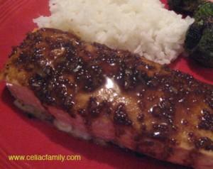 Salmon w/Balsamic Glaze