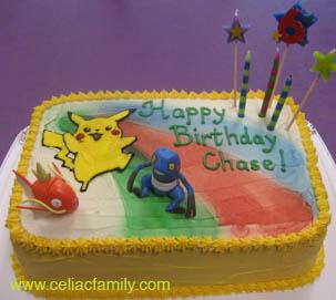 Gluten Free Pokemon Birthday Cake
