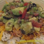 Chicken Rice Bowl with Avocado Salsa