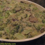 Broccoli and Mushroom Casserole @CeliacFamily -- #GlutenFree