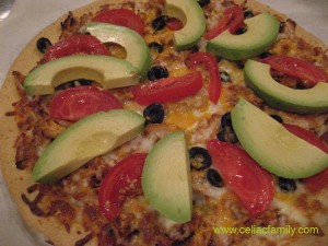 Chicken Pizza with Fresh Tomato and Avocado