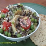 Wild Rice Salad with Parmesan Dressing