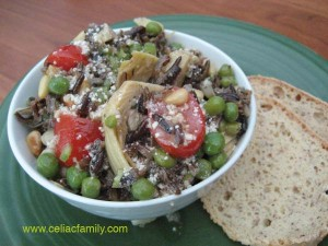 Wild Rice Salad @CeliacFamily -- #GlutenFree