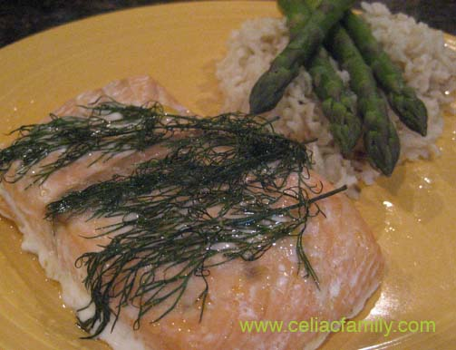 Baked Salmon with Fresh Dill